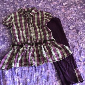 Girls shirt and capris